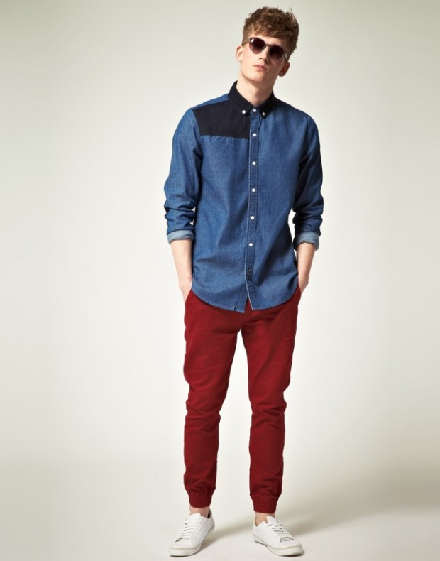 red-and-denim-shirt-style-fashion-650x829
